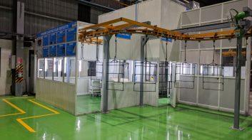 Powder Coating Line Minda Industries, Pune